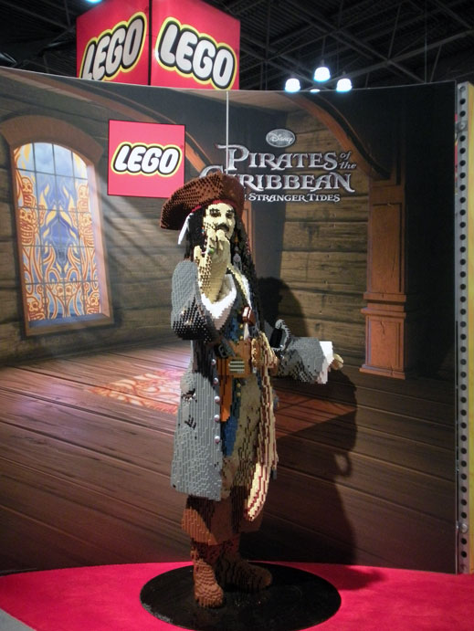LEGO Pirates of the Caribbean Captain Jack Sparrow Model Toy Fair 2011