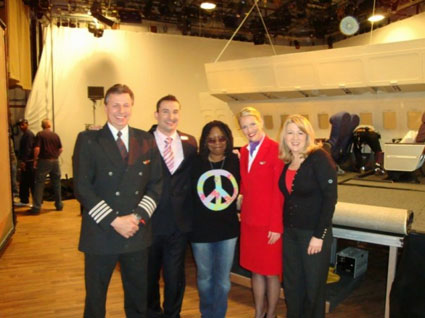 Creatacor, Virgin Atlantic, and Whoopi Goldberg in the studio at The View