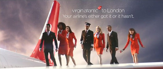 Virgin Atlantic's new global TV advertisement