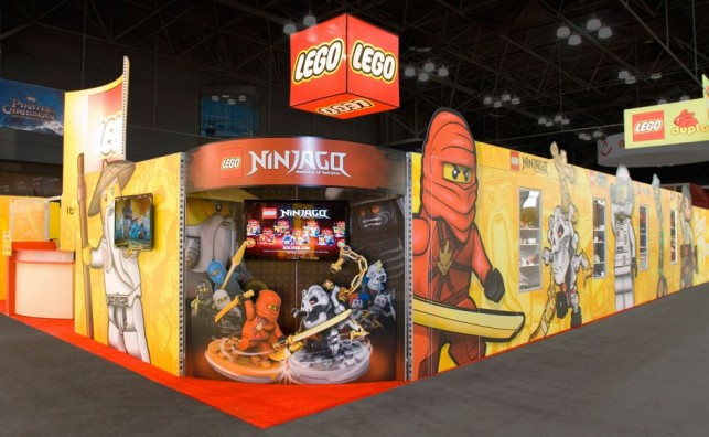 Lego ToyFair custom rental trade show exhibit