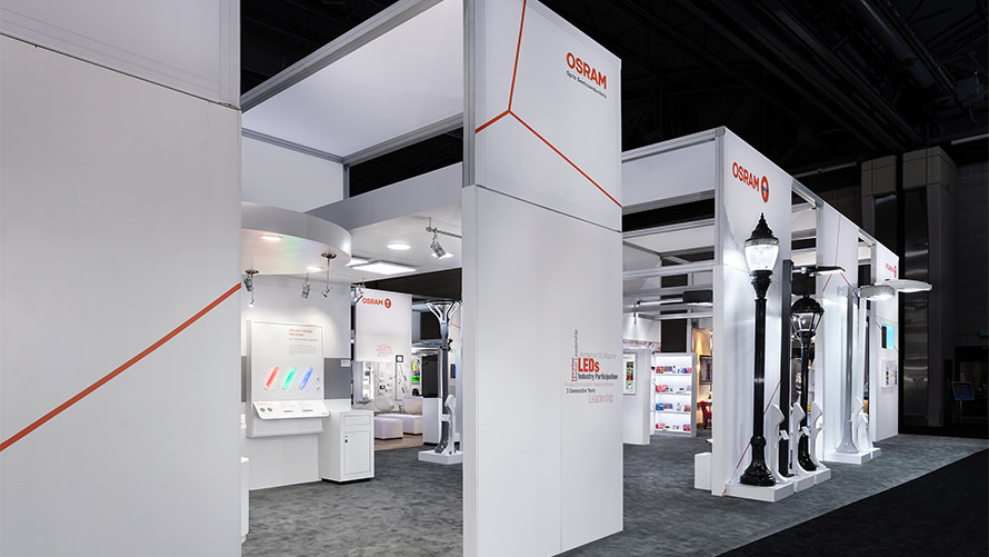 OSRAM - Lightfair International custom trade show program