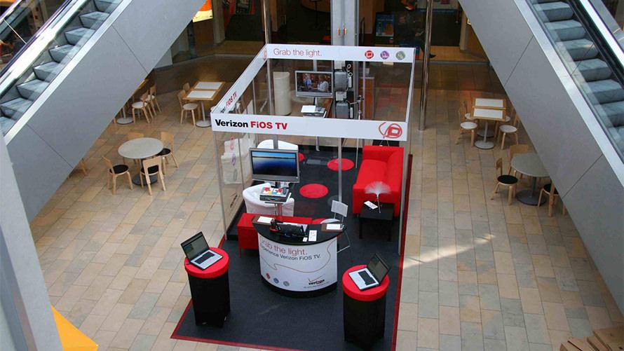 Custom Fab Mall Retail POS Verizon Fios