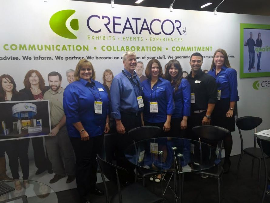 The Creatacor crew at the exhibit for EXHIBITORLIVE! 2015