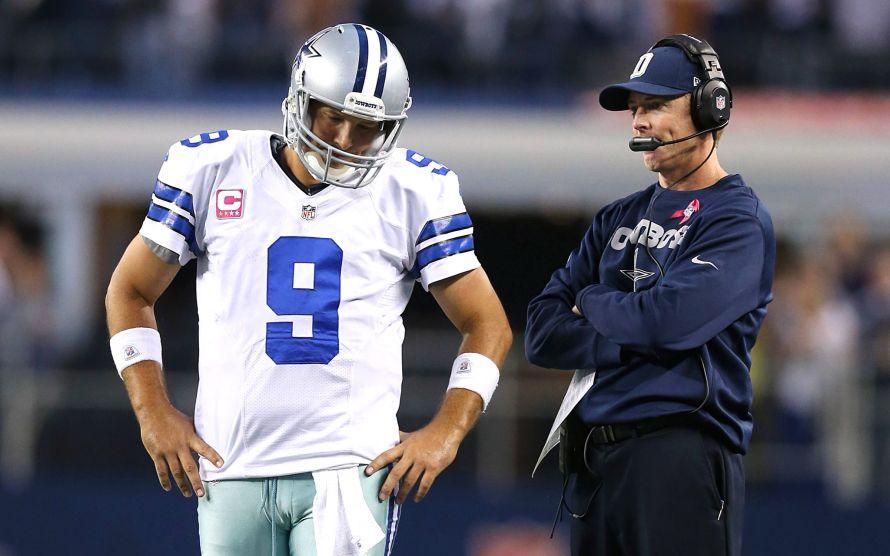 Tony Romo and Jason Garrett