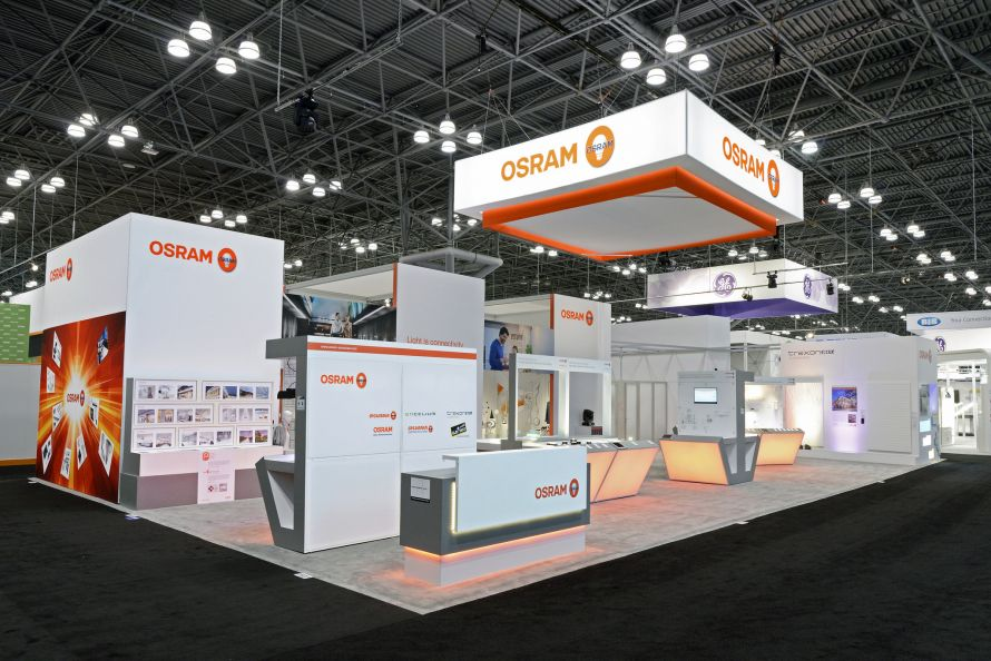 OSRAM's custom trade show exhibit at LIGHTFAIR 2015