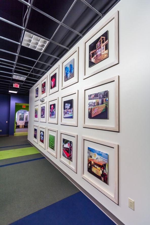 Office rebranding - hallway