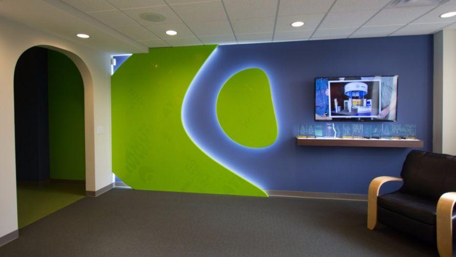 Office rebranding - lobby