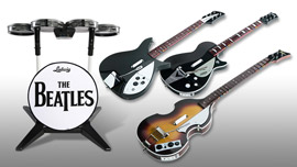 The Beatles: Rock Band Game Instruments