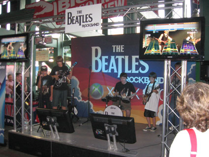 The Beatles: Rock Band Stage Set by Creatacor at Fenway Park