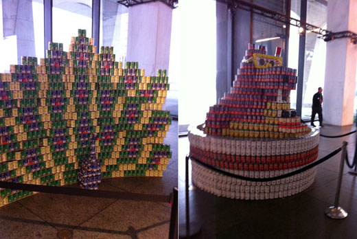Some can creations at CANstruction 2012