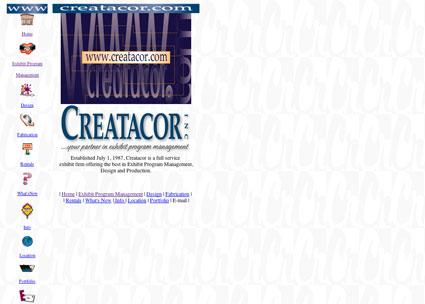 www.creatacor.com from 1997