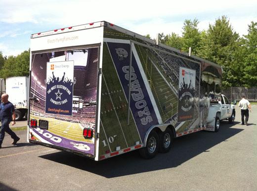 Dallas Cowboys Electrifying Fans Road Show