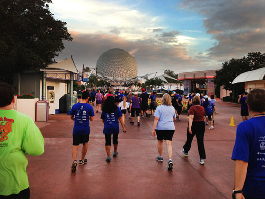 Gail and Tom also volunteer and run at the 20th Anniversary Disney Marathon.