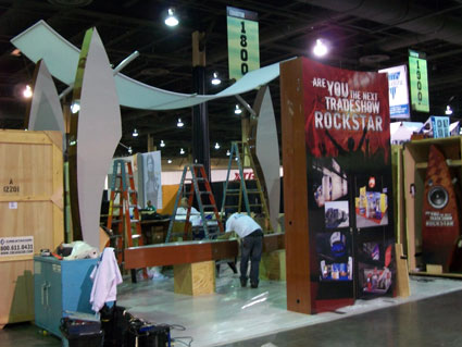 Creatacor setup at Exhibitor Show 2010