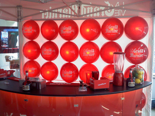 Creatacor and Soho Experiential Grand Marnier Event Sets