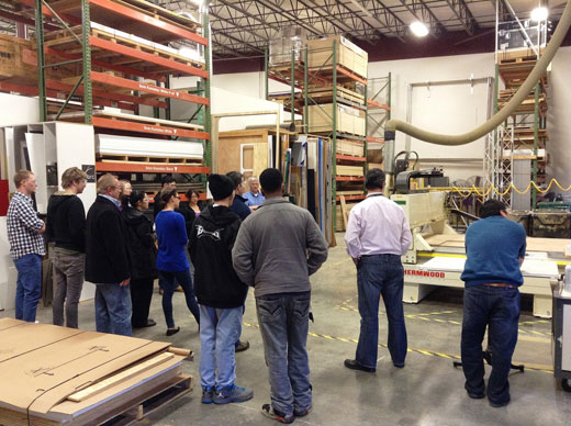 HVCC CADD students visit Creatacor