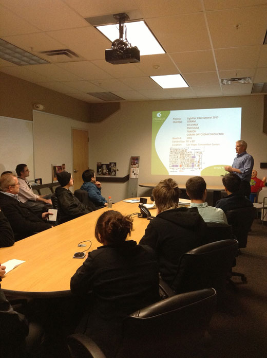 HVCC CADD students visit Creatacor in conference room