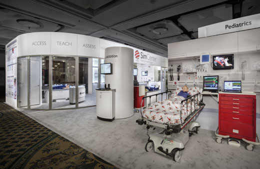 Creatacor Nori Award 2011 Entry - Laerdal Medical 50' x 50' custom exhibit