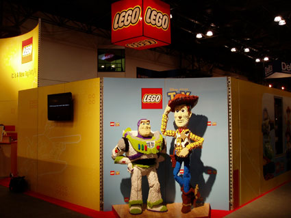 LEGO Buzz Lightyear and Woody at Toy Fair 2010