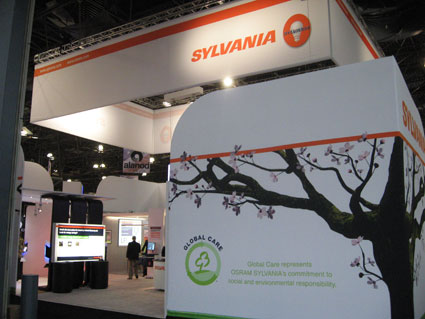 Osram Sylvania's 2009 Lightfair Exhibit