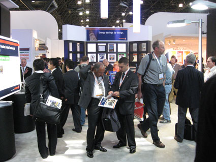 Osram Sylvania's 2009 Lightfair Exhibit - A busy booth