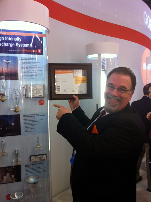 OSRAM SYLVANIA at LIGHTFAIR 2011 - Joe McCormick, won a Lightfair International Innovation award
