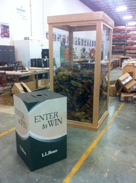 L.L.Bean's Boot Tower in the Shop