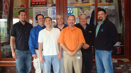 Osram Sylvania Lightpoint Training. From left to right: Wayne Davi, Julian Colbert, Ed Riggs, Will Farmer, Bob Sweeney, Dave West and Jeremiah Primeau