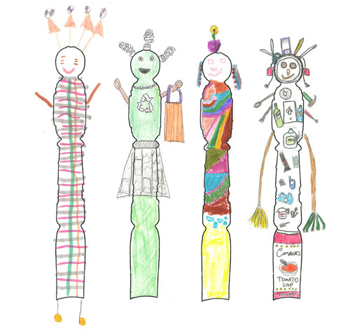 Children's Newel People Drawings