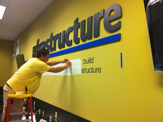 nfrastructure technologies interior design wall
