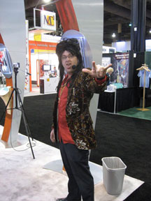 Paul Traynor in Creatacor Exhibits and Displays booth at EXHIBITOR2009