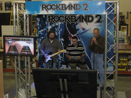 Creatacor's House Band: The Losers tests out a Rock Band 2 Stage Set in the shop