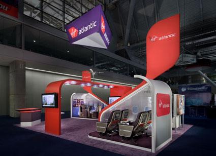 Virgin Atlantic Custom Exhibit for NBTA, design and constructed by Creatacor