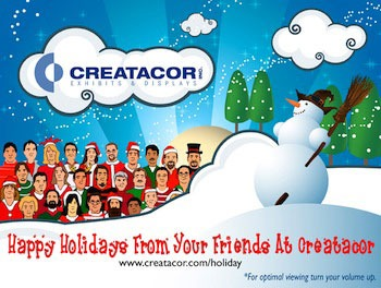 Creatacor exhibits and Displays Holiday card