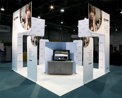 Augen Optics trade show marketing display
