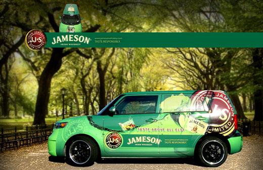 Creatacor mobile marketing display for Jameson