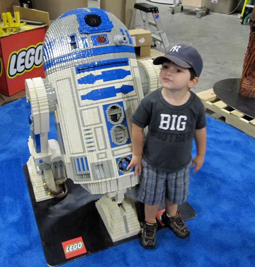 Toddler with R2D2 from Star Wars