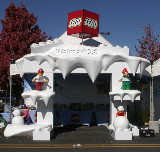 Walmart and Lego Trade show booth