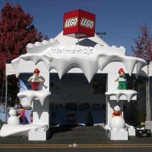 A LEGO Winter Wonderland at the Bentonville in Toyland First Friday Event