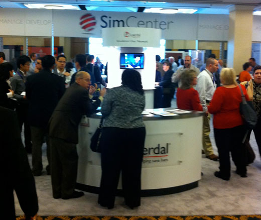 Sim Center booth