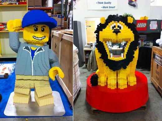 Large lego displays