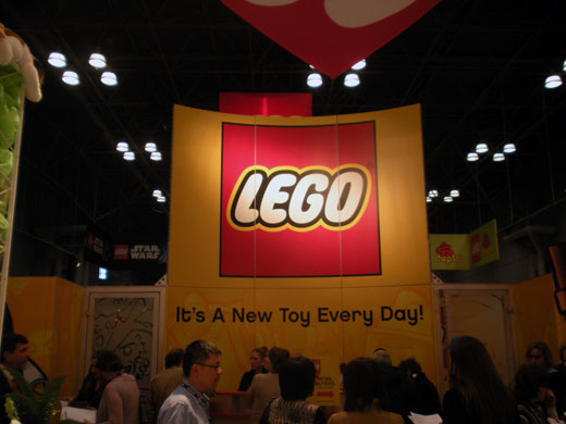 Lego sign at show