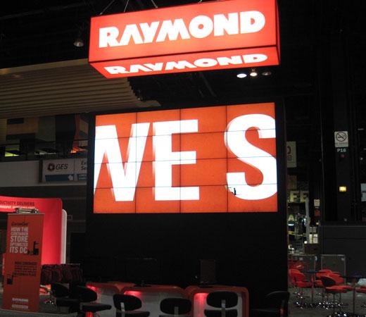 Raymond tradeshow booth