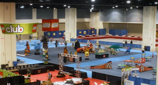 Lego booth on trade show floor