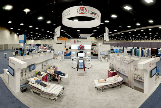 Panoramic of trade show floor
