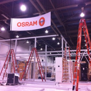 OSRAM At Lightfair 2012 – Move-In Day 1