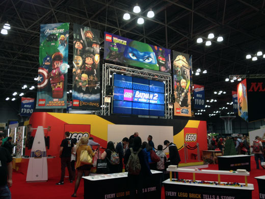 Large lego booth