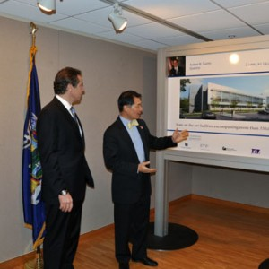 Creatacor & EYP Produce Displays For Governor's SUNYIT Visit