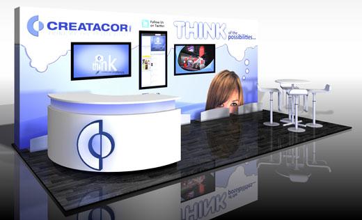 Creatacor booth rendering