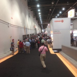 Opening Day At LIGHTFAIR International 2014